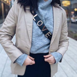 "Leather jacket. Size S. Brand ""Sammy"""